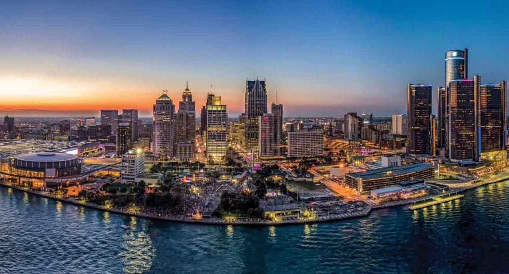 Detroit Michigan Harbor