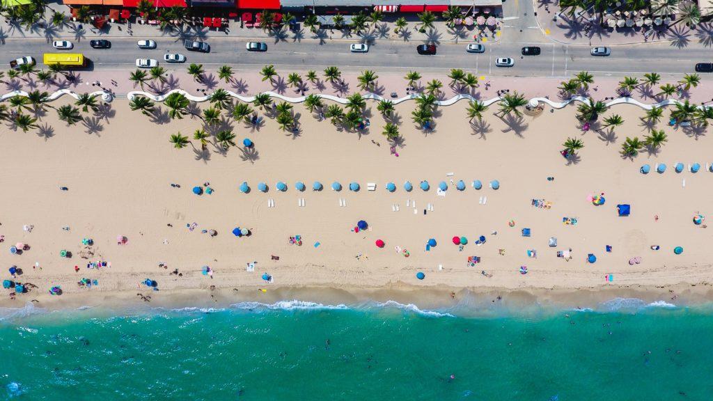 Aerial of Floirda Beach