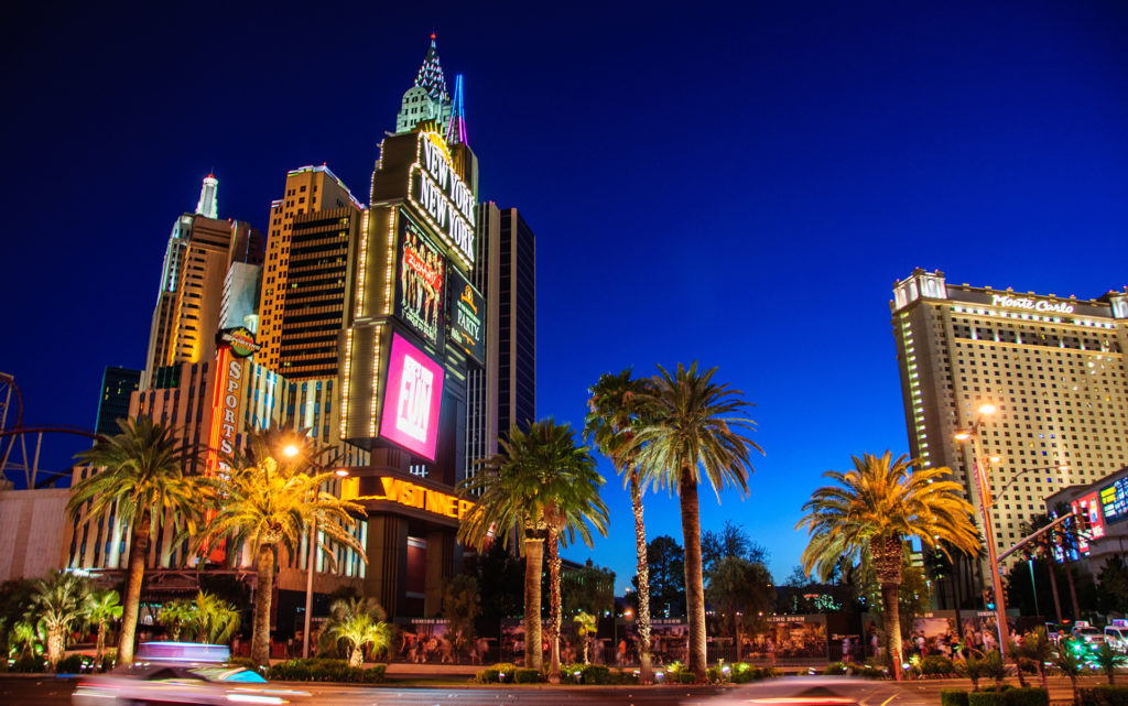The famous Hotel New York in Las Vegas, Nevada, USA