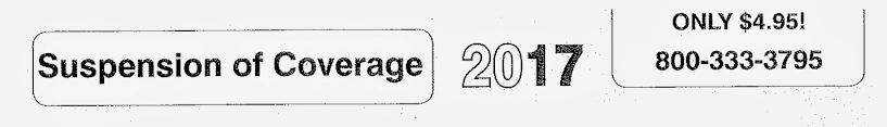 Compliance Service Dept. Suspension of Coverage Letter. Labor law scam.
