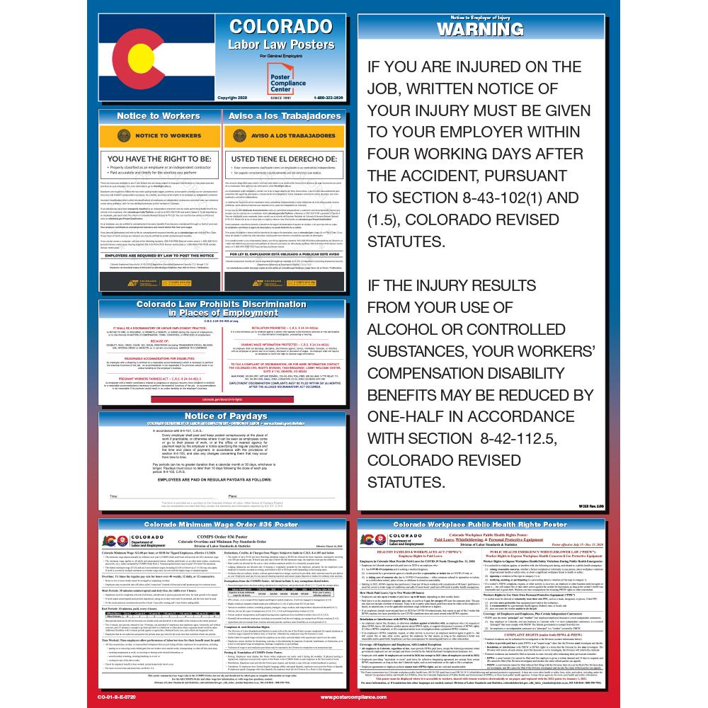 Colorado Labor Law Poster 0720