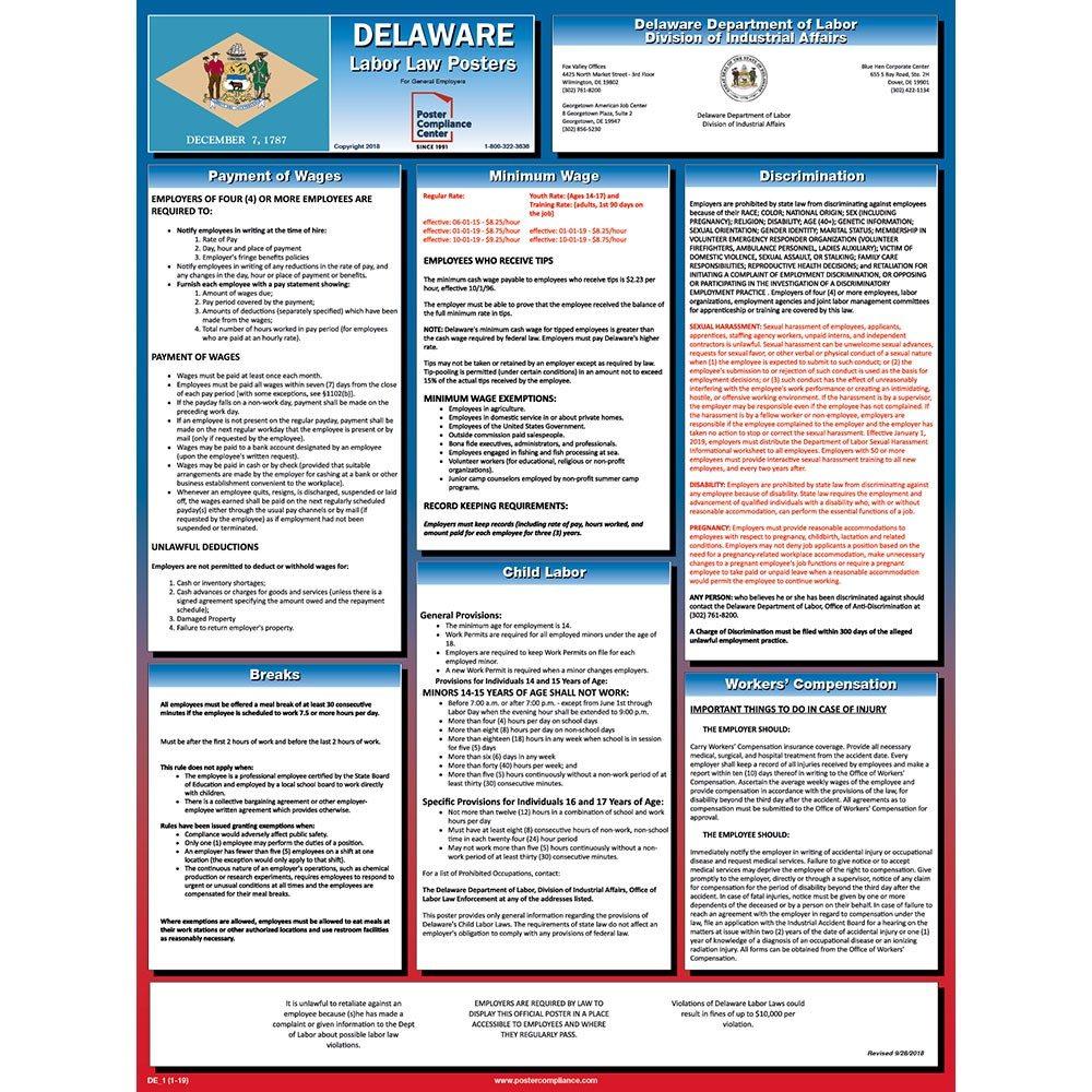 Delaware Labor Law Poster