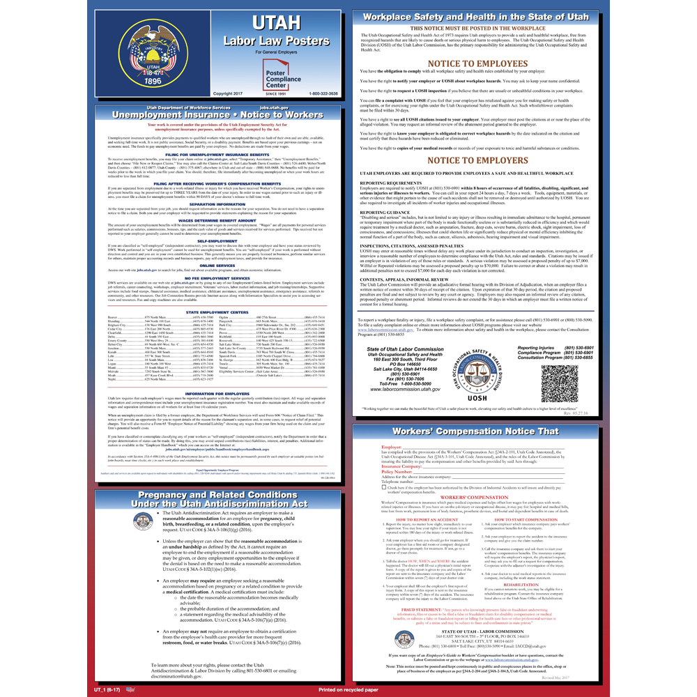 utah labor law posters 2019 poster compliance center