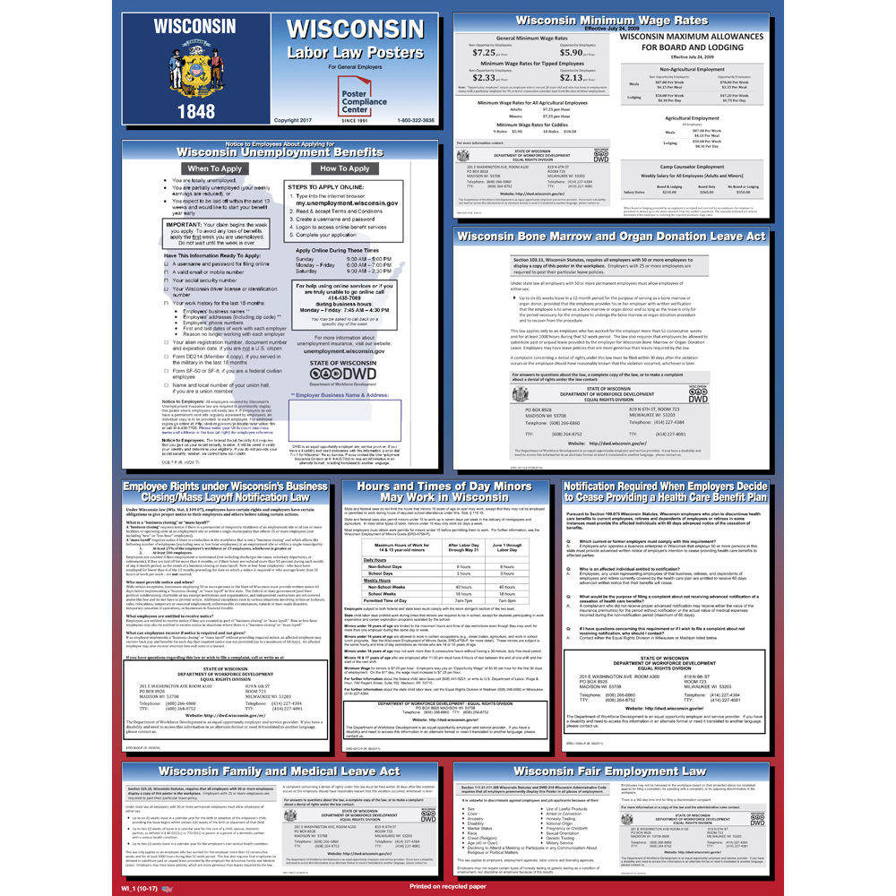 Wisconsin Labor Law Poster