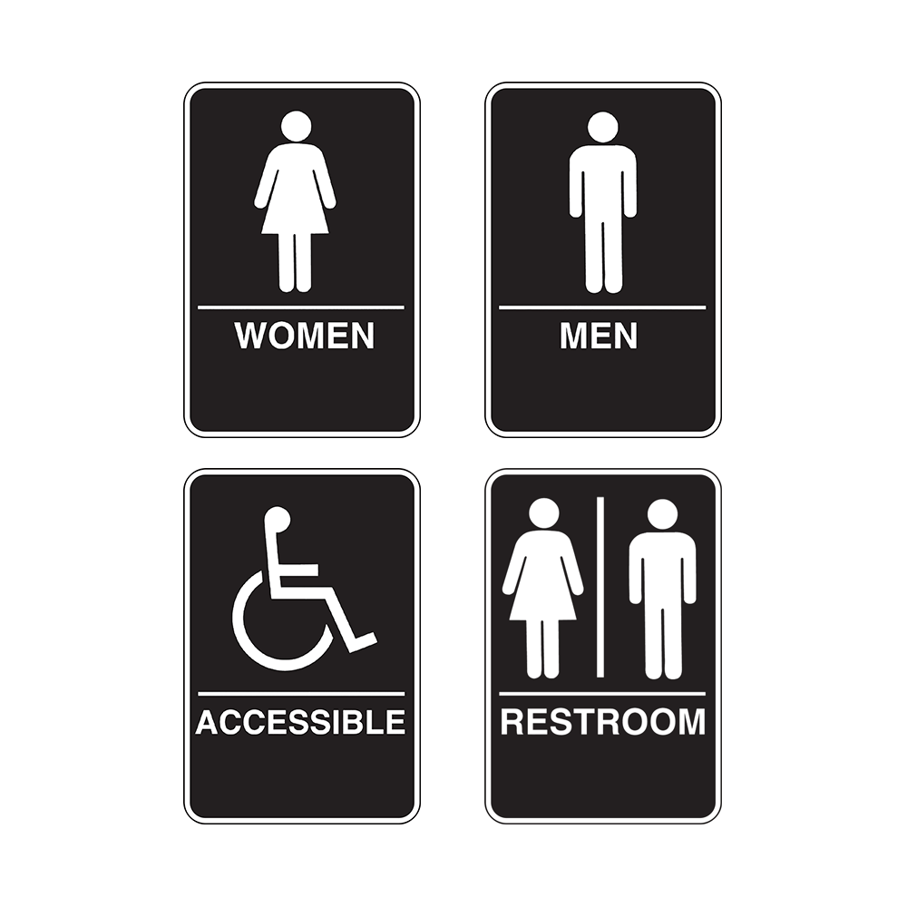 Restrooms Plastic Braille Signs | Poster Compliance Center
