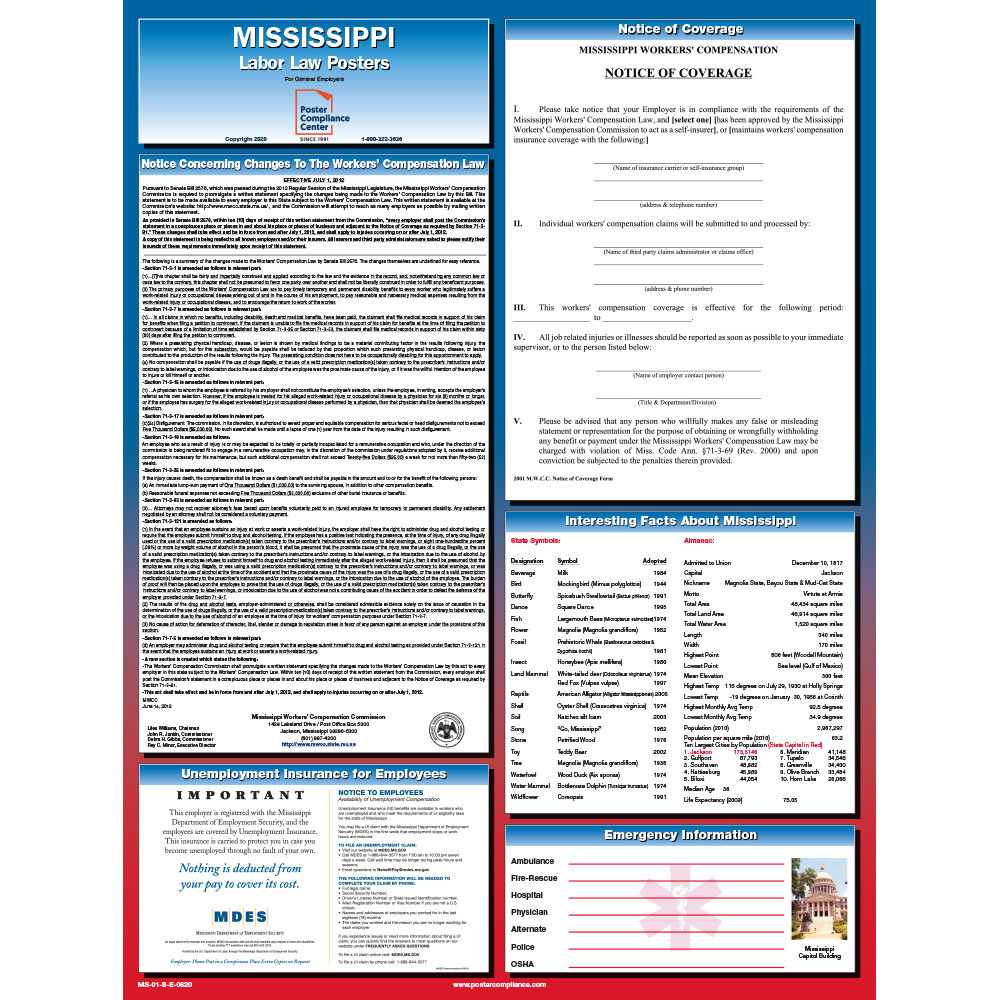 Mississippi labor law poster
