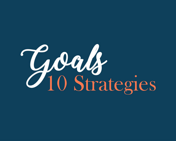 Typography Image that Says Goals and Strategies