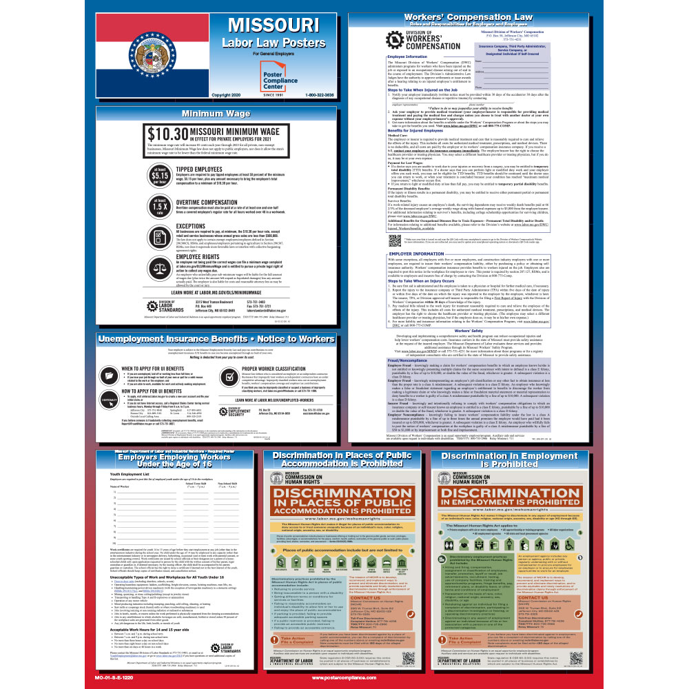 Missouri State Labor Law Poster