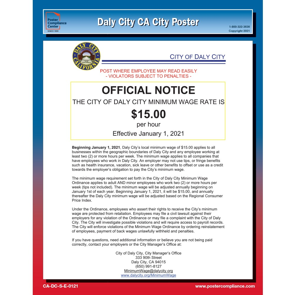 Daily City, California City Poster