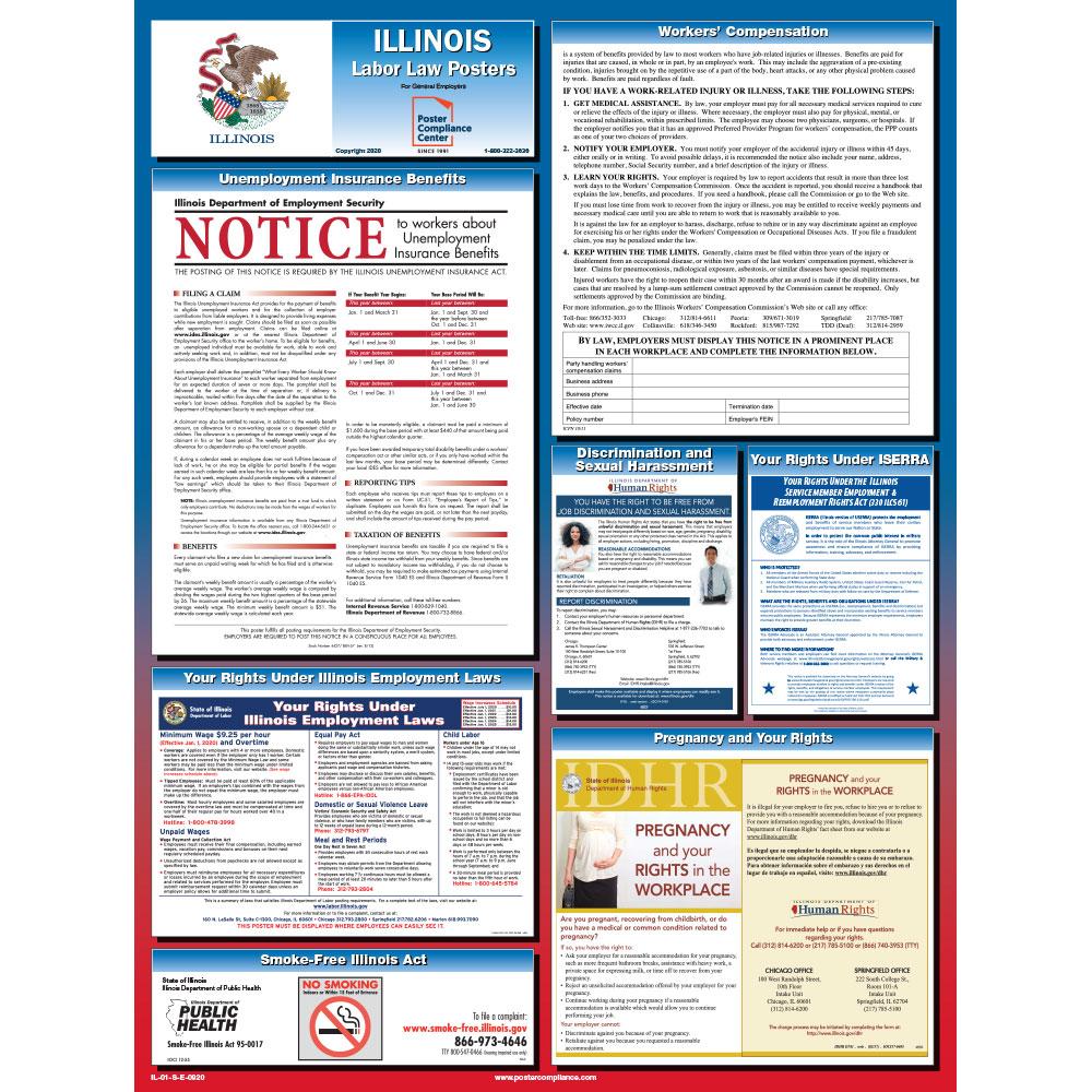 Illinois Labor law Poster