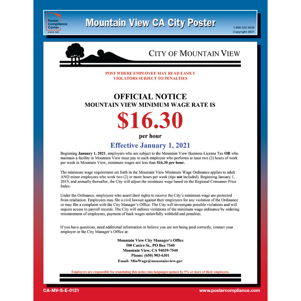 Mountain View City Poster