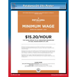 Petaluma, CA labor law poster