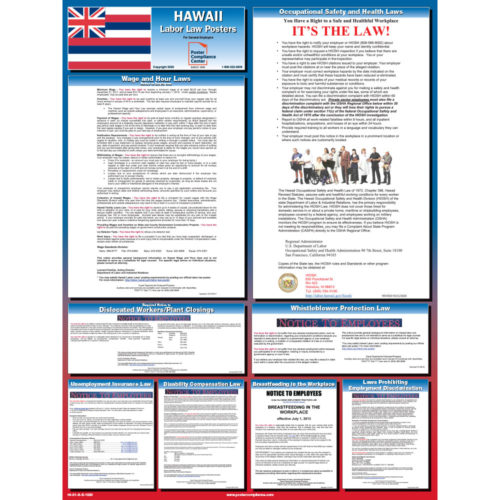 Hawaii Labor Law Poster 1020