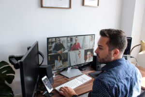 Manager monitoring remote workers